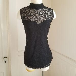 Lane Bryant black lace sleeveless top size 14/16